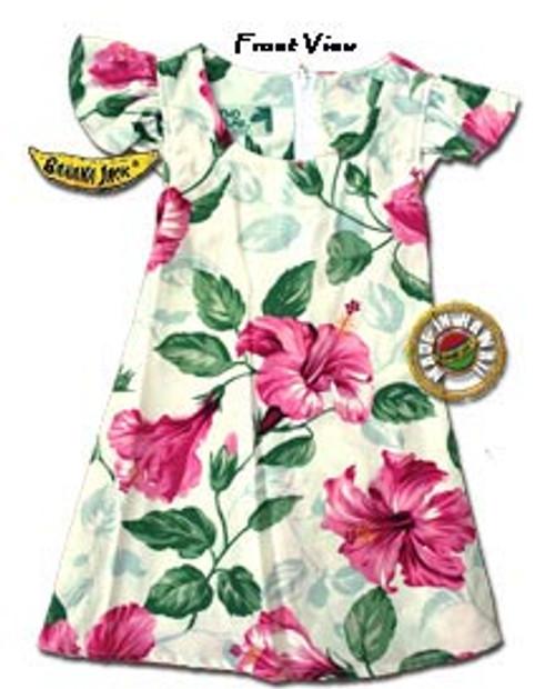 Girls Royal Hawaiian Hibiscus Tie Back Dress