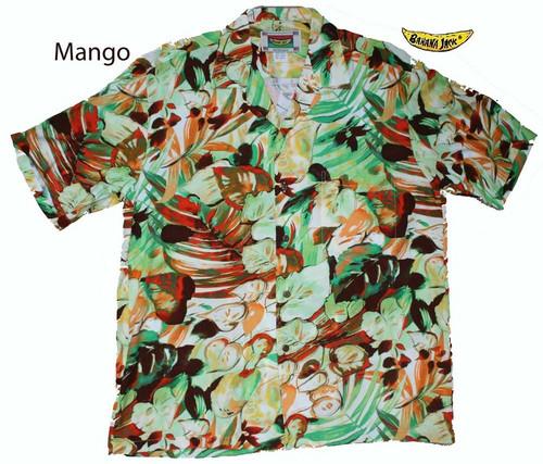 Hawaiian Rainforest Mens Hawaiian Shirt - Mango