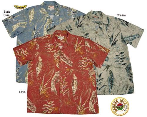 Hale Heliconia Men's Rayon Hawaiian Aloha Shirt