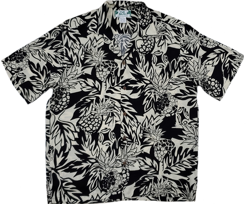 Wild Pineapple - Black - 100% Rayon