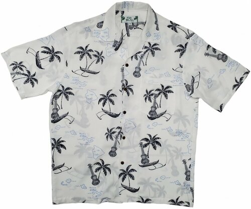 Island Outriggers and Ukes - White - 100% Rayon