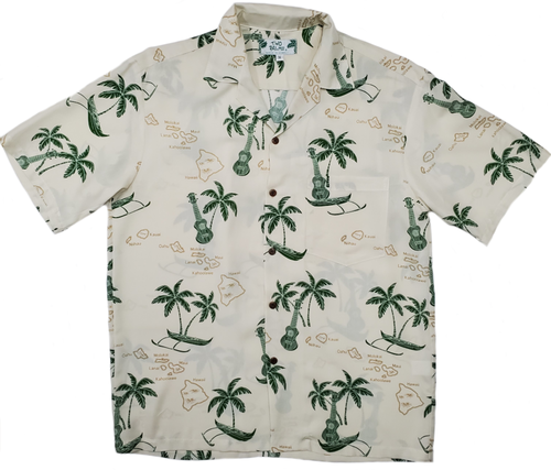 Island Outriggers and Ukes - Cream - 100% Rayon