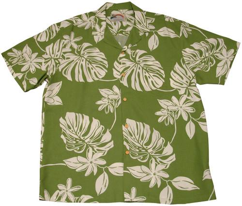 Tiare Green -  Men's 100% Rayon Hawaiian Shirt