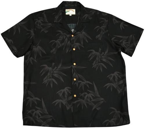 Bamboo Black - Men's 100% Rayon Hawaiian Shirt
