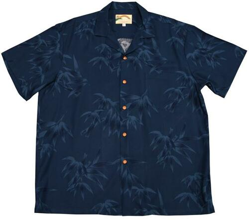 Bamboo Blue - Men's 100% Rayon Hawaiian Shirt