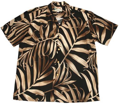 Palm Fronds Black - 100% Rayon