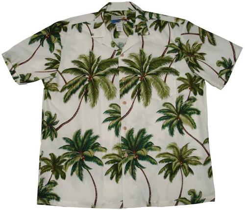 Waimea Palms White - 100% Cotton