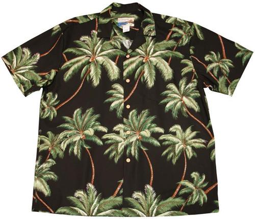 Waimea Palms Black - 100% Cotton