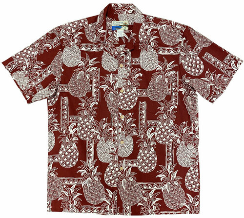 Pineapple Tapa Red - 100% Cotton