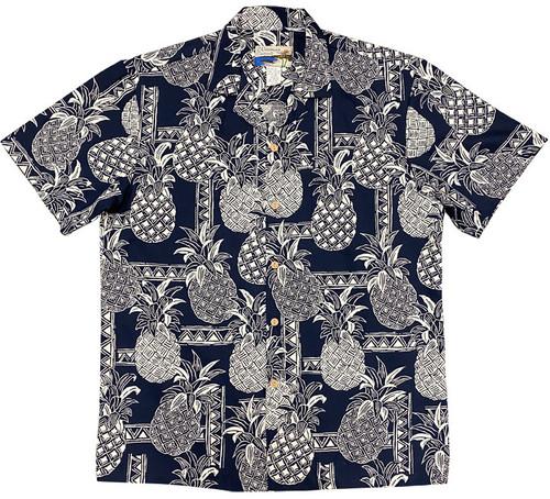 Pineapple Tapa Navy - 100% Cotton