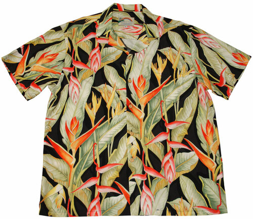 Heliconia Black - 100% Rayon