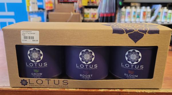Lotus Premium Nutrients 3 pack. 180z each of Grow, Bloom and Boost