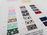 Color Card #1818 / Reversible Polka Dot Satin