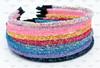 Chunky Glitter Headbands, Iridescent Lined Glitter Headband, Lined Headband, Skinny Headband, Glitter Headbands, Sparkle Headbands, Girls Headband, DIY Headband, 1 PC