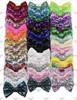"4"", Sequin Bows, NO CLIPS, Bow Appliqu̩e, Sequin Bow Headband, Large Bows, Bows, Wholesale, Big Bow, Sequin Bow (#7)"