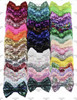 """4"""", Sequin Bows, NO CLIPS, Bow Applique, Sequin Bow Headband, Large Bows, Bows, Wholesale, Big Bow, Sequin Bow (#7)"""
