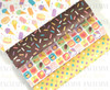 "20x34cm (7.8"" x 13.4""), Ice Cream Synthetic Leather, Sprinkles Fabric Sheet, US Designer, Summer Leather Fabric, Sweet Treats Leather Fabric, Jelly Fabric Sheets, Planner Fabric, DIY Hair Bows, 1 SHEET"