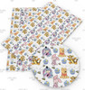 "20x34cm (7.8"" x 13.4""), Winnie the Pooh Synthetic Leather, Pooh Fabric, Character Fabric Sheet, Tigger, Eeyore, Piglet, Cartoon Print Leather, Leather Fabric, Fabric, DIY Hair Bows, 1 Sheet (41)"
