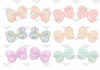"""3"""", Butterfly Bow, Sequin Bow, Butterfly Sequin Bows, NO CLIPS, Pastel Sequin Bows, DIY Bows for Baby Headband, Sparkler Appliqué, Headband Supplies, 1 PC"""