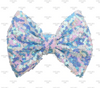 """5"""", Sequin Bows, NO CLIPS, Blue and White, Winter Sequin Bow, Frozen Bow, Bow Appliqu̩e, Sequin Bow Headband, Large Bows, Bows, Wholesale, Big Bow, Sequin Bow"""