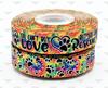 "7/8"", Dog Rescue Ribbon, US Designer Ribbon, Rainbow Ribbon, Tie Dye Ribbon, You Can't Buy Love, But You Can Rescue It, Dog Collar Ribbon, Supplies for Dog Collars, Wholesale Ribbon, PER YARD"