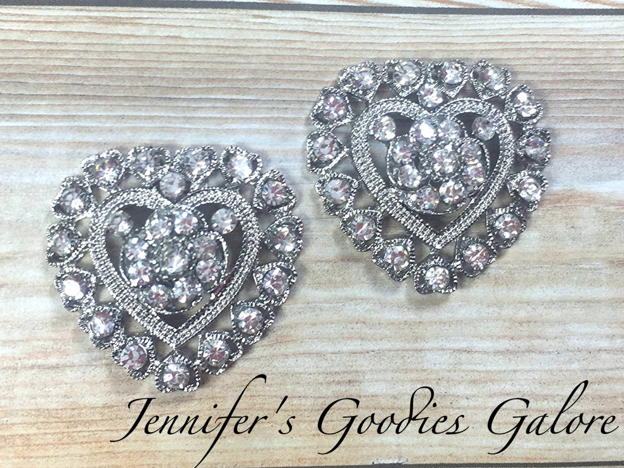 Rhinestone Heart Buttons, Heart Flat back, 30mm, Heart Button, Heart  Embellishment, Flower Centers, Valentine Embellishments