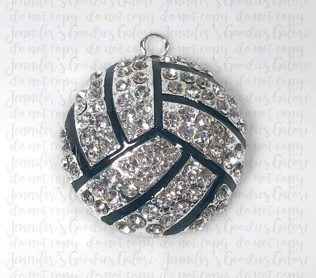Volleyball Sports Silver Foiled Phrase Scrapbook Stickers