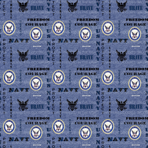 """8x11"""", Military Leather, Navy Synthetic Leather, Custom Printed Leather, US Navy Leather Fabric, Military Faux Leather Sheet, Faux Leather, Vinyl, DIY Hair Bows, 1 Sheet"""