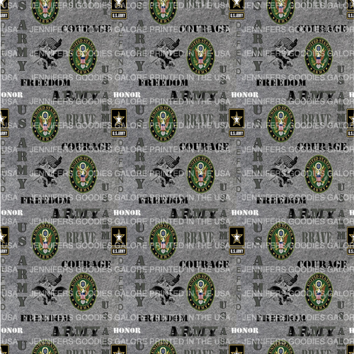 """8x11"""", Military Leather, Army Synthetic Leather, Custom Printed Leather, US Army Leather Fabric, Military Faux Leather Sheet, Faux Leather, Vinyl, DIY Hair Bows, 1 Sheet"""