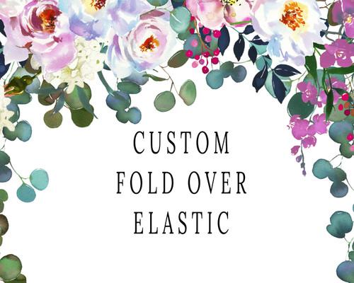"5/8"", Custom Design FOE, 100 yard spool, your design, Custom Elastic Hair Ties, Fold Over Elastic"