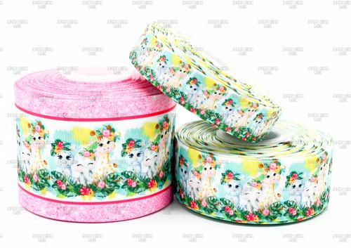 Animal Ribbon, US Designer Ribbon, Giraffe Ribbon, Elephant Ribbon, Floral Ribbon, Lanyard Ribbon, Hair Bow Ribbon, Wholesale Ribbon, PER YARD