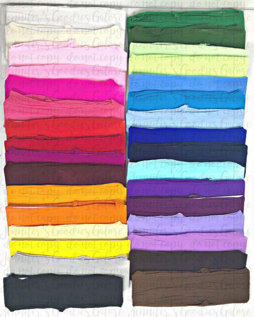 "2.5"" Wide, Nylon Headbands, Baby Girl Headbands, Infant Headband, Wholesale Headband,  32 Colors"