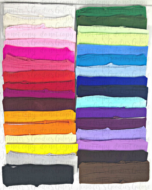 "2.5"" Wide, Nylon Headbands, Baby Girl Headbands, Infant Headband, Wholesale Headband,  32 Colors"