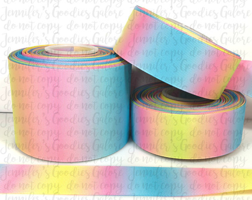Summer Ombre Ribbon, US Designer Ribbon, Double Sided, Summer Ribbon, Ombre Ribbon, Cheer Bow Ribbon, Easter Ribbon, Wholesale Ribbon, PER YARD