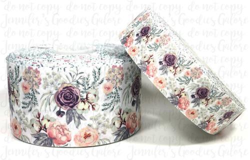Fall Roses Ribbon, Floral Ribbon, Flower Ribbon, Holiday Ribbon, Fall Ribbon, Hair Bow Ribbon, Cheer Bow Ribbon, Wholesale Ribbon, PER YARD
