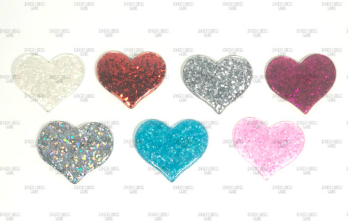 2 Valentine Pink Heart Resin Hair Bow Resins pink and red heart cabochon