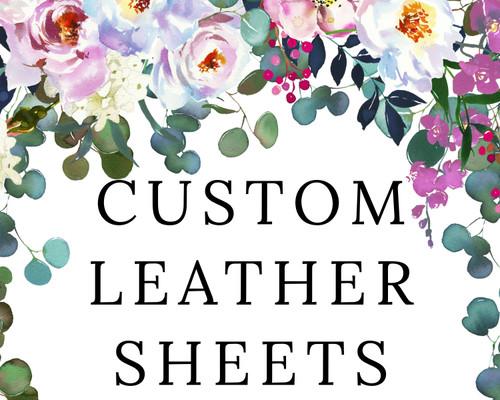 Custom Leather Sheets