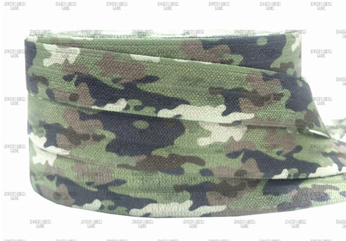 "5/8"", Camouflage FOE, Military Elastic, Camo Elastic, Fold Over Elastic, Army FOE, Marines, Navy, DIY Hair Ties, Elastic Hair Ties, Wholesale FOE, 3 YARDS"