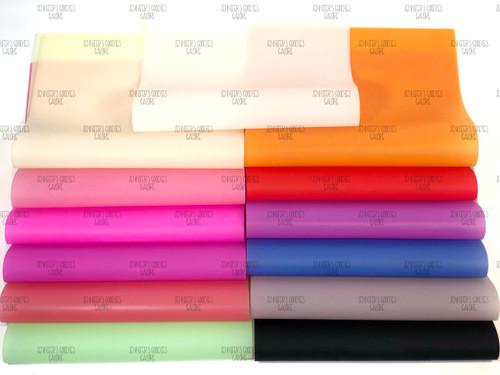 20x24cm, Matte Jelly Leather Sheets, Matte Faux Leather, Pool Bows, DIY Hair Bows, Waterproof Jelly Sheet, 6 PC SET