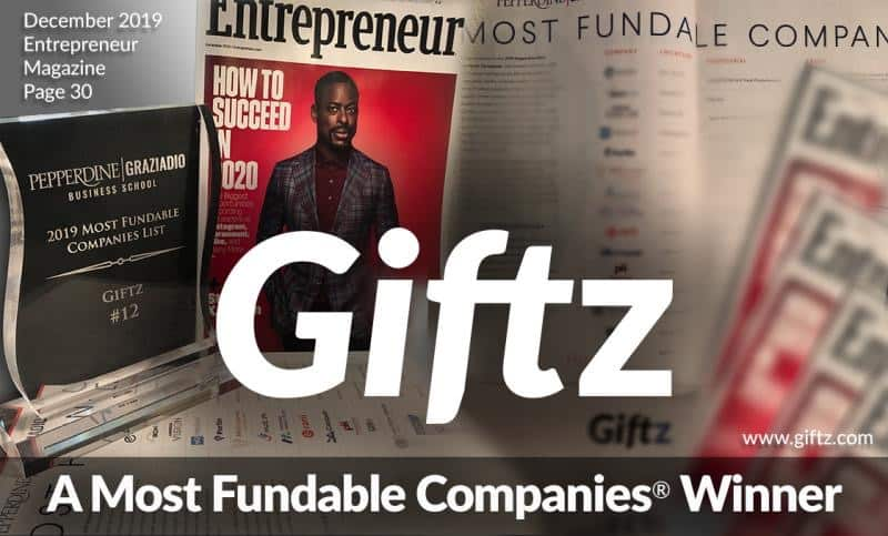 Giftz - A Most Fundable Companies Winner