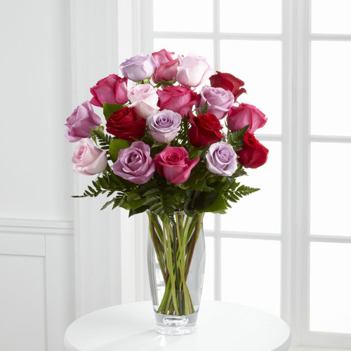 The Captivating Color Rose Bouquet by Vera Wang