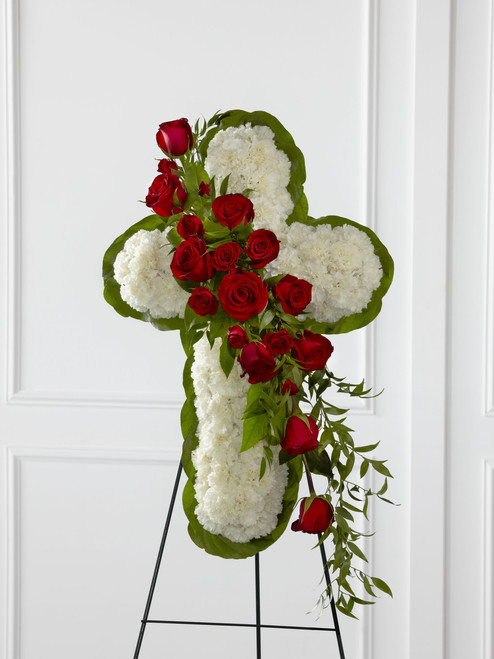 The Floral Cross Easel