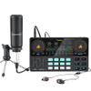 Maono AU-AM200-S1 ALL-IN-ONE Podcast Production Studio with Microphone, Audio Interface with DJ Mixer and Sound Card (Black)