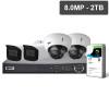 Pro Series 4 Camera 8.0MP IP Surveillance Kit (Motorised, 2TB)