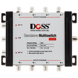 3-IN 8-OUT MULTISWITCH 5-2150MHZ F-TYPE SATELLITE FTA
