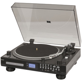GE4107 DIGITECH Turntable With CD Player Record To USB SD Bluetooth