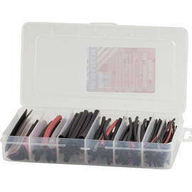 160 Piece Heat Shrink Pack Plastic Storage Case Kit - 9319236947821