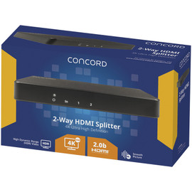 Concord 2-Way 4K HDMI Splitter