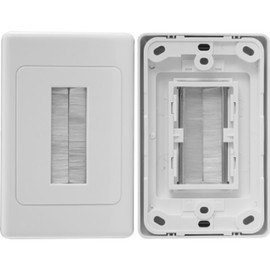 WHITE BRUSH WALL PLATE SUITS CLIPSAL