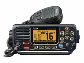 ICOM IC-M330GE BLACK FIXED MOUNT VHF/DSC MARINE RADIO WITH EXTERNAL GPS